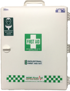 NSW First Aid   Industrial First Aid Kit – Wall Cabinet