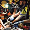Underground mining emergency rescue training