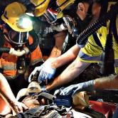 Underground mining emergency rescue training